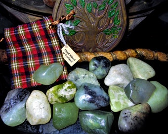"Green Scottish Iona Stone ""Mermaid Tears"" - Calming, Fairy Magic, Mermaid Magic, Ocean Magic, Protection, Luck, Druid Spirits of Scotland"