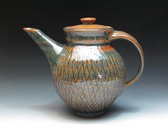 Mark Nafziger Stoneware Pottery Teapot, Handmade Studio Pottery Teapot, Ohio Potter Nafziger
