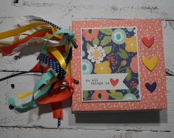 Love - Faith Scrapbook Mini Album 5x5