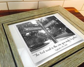 Framed Personalized Street Sign Photograph