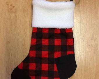 Plaid Christmas Stocking