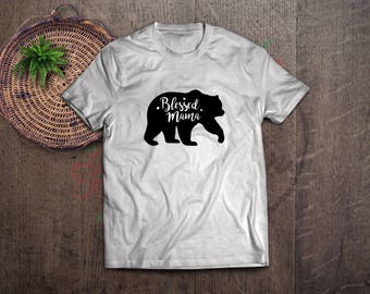 blessed mama bear svg