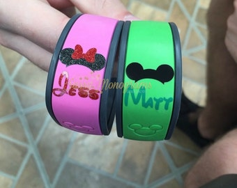 Magic Band 2.0 Mickey or Minnie Mouse Personalized Monogram Vinyl Decal