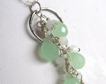Lime Green Cascade Necklace