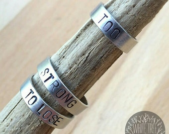 Stacking rings set, personalized rings, band rings, stackable name rings, birth date rings, letter ring, initial rings, couple rings
