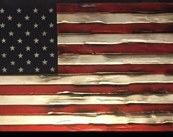 Rustic American Flags
