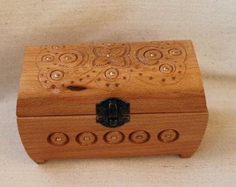Wooden jewellery box Etsy