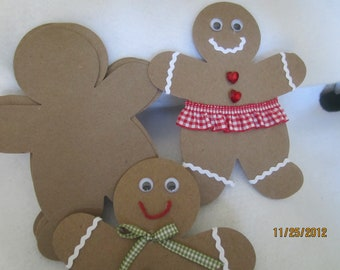 DIY Christmas ornaments- Christmas Crafts-Large Gingerbread Men Chipboard Blanks - Die Cut Gingerbread Men-Unfinished-Raw Chipboard