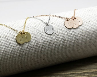 Same Day Shipping Til 3 p.m EST,Coin Initial Necklace -Monogram necklace,Custom necklace,Personalized necklace,Graduation gift,Wedding gift