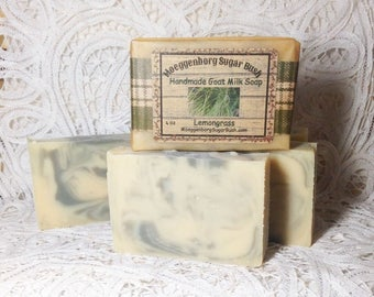 Soap, Goat Milk, lemongrass, herbal, lemon, teacher gift, mother's day gift, soothing, fresh lemon, Moeggenborg Sugar Bush