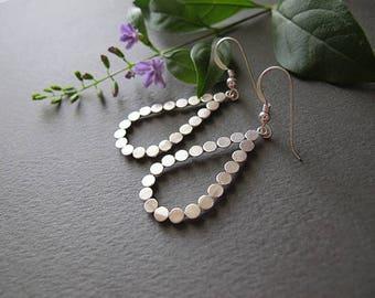 Silver earrings, Drop earrings, Dangle earrings, simple earrings, Israeli jewelry, everyday earrings, gift for her
