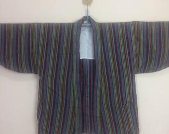 Vintage Japanese Indigo Cotton Thicker Sashiko Kendo Gi Akido Budo Kimono Haori Jacket Swordsman wRdPJ1GRoY