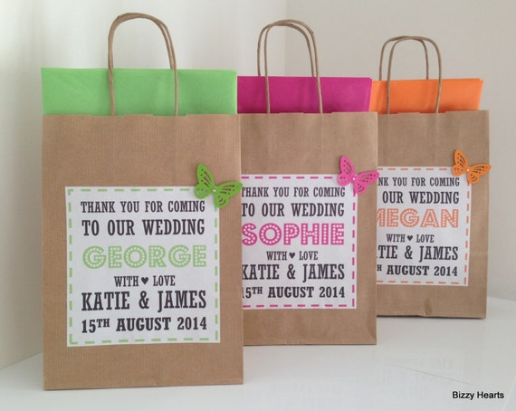 Childrens Wedding Gifts: Wedding Gift Bag / Wedding Favour / Personalised
