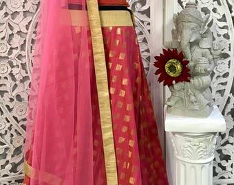 3pc Banarasi Croptop Set