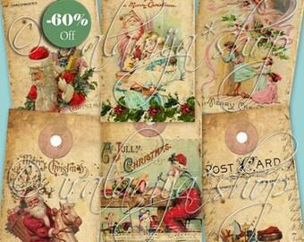 SALE JOY TAGS collage Digital Images  -printable download  file-