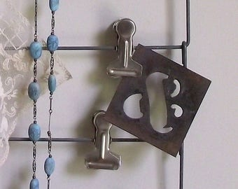 Metal Ampersand Stencil , Vintage Metal Plate Stencil ,  Ampersand Symbol , Industrial Vintage Supplies , Office Decor