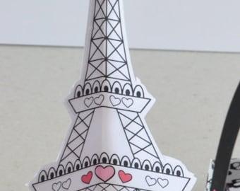 Paris Party Eiffel tower standing decoration
