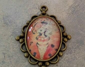 'Ice cream Orange' pendant (2)