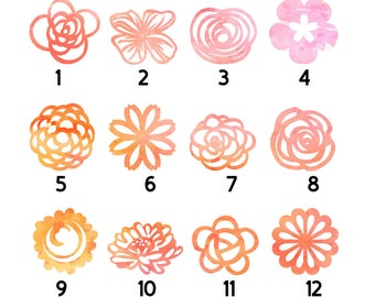 Fridge magnet, Pink orange yellow papercut magnet, Watercolour magnet, Watercolor, Magnet, Set of magnets, Paper cut magnet, refrigerator