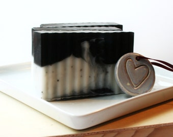 Black Cherry and Poppy Seeds Soap Bar