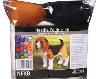 3D BEAGLE - Needle felting kit