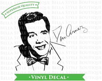 Desi Arnaz Ricky Ricardo I Love Lucy Lucille Ball  VINYL DECAL