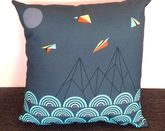 Paper planes, cushion cover
