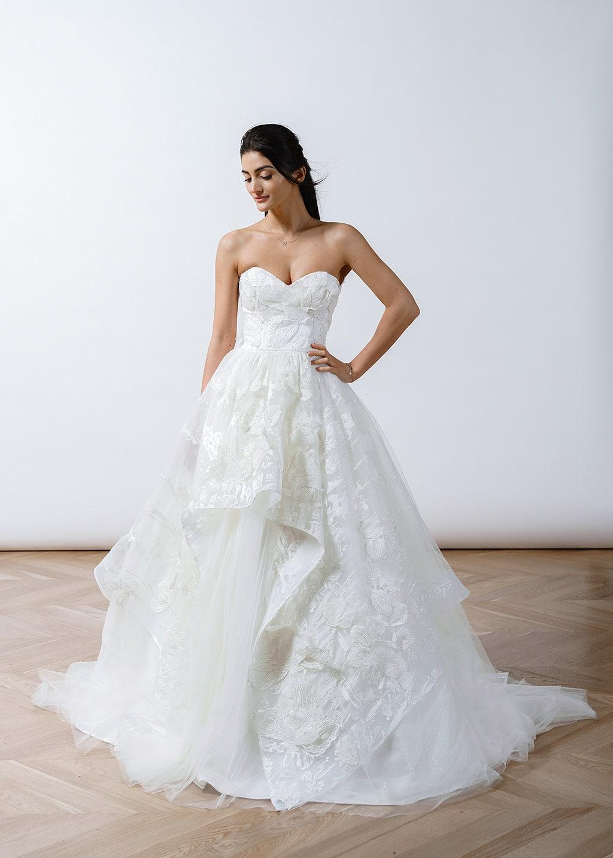 Brautkleid Braut Shirt aus Spitze Tüll Brautkleid