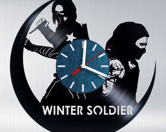 Captain America Winter Soldier Vinyl Record Wall Clock