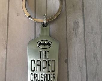 Caped Crusader keychain
