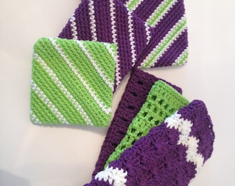 Purple and Lime Green set