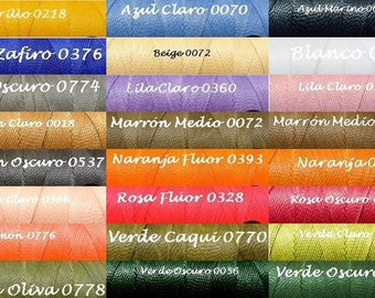 5/10/15 mts LINHASITA Waxed wire 1 mm 39 colors and meters to choose Nylon bracelets beads macrame Thread