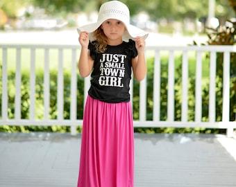 Girls Pink Maxi Skirt, Girls Long Pink Skirt, Pink Skirt for girls, Girls Long Skirt, Skirts - Sizes 4/5, 6/6X, 7/8, 10/12 - Ready to Ship