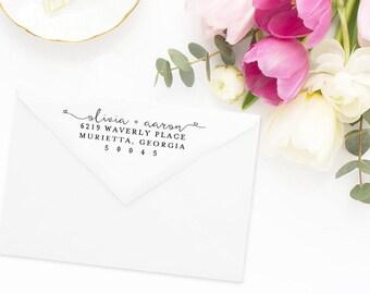 Return Address Stamp, Address Stamp, Custom Address Stamp, Wedding Return Address Stamp, Personalized Return Address Stamp, Rubber Stamp #40