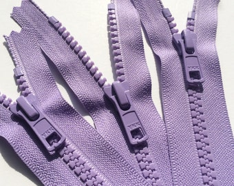 14 Inch YKK Vislon 5mm Molded Plastic Chunky Teeth Sports Zippers- (1) Piece- Lavender 553