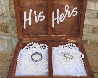 Ring Bearer Box / Ring Bearer Pillow Alternative / Ring Box for Wedding / Rustic Wedding Box / Rustic Wedding Decoration