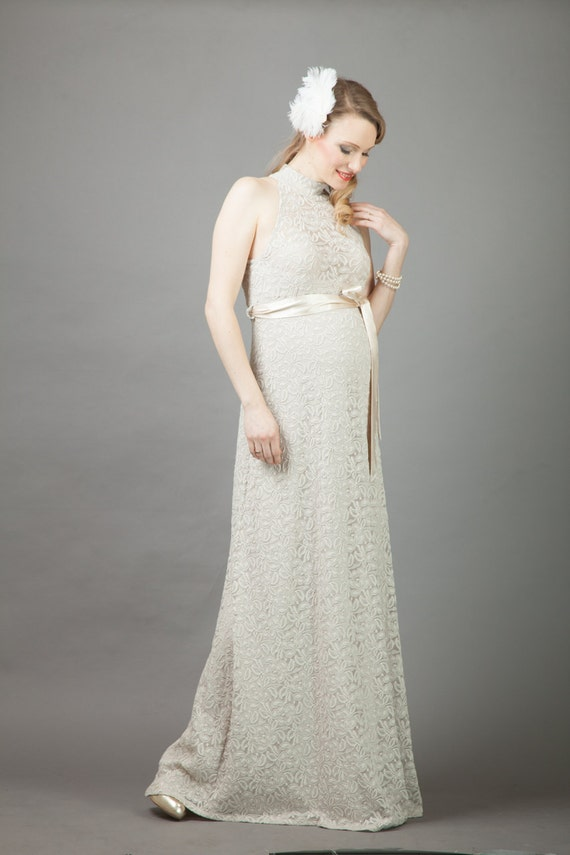 Hollywood Maternity Wedding Gown Pregnancy Dress Baby Shower
