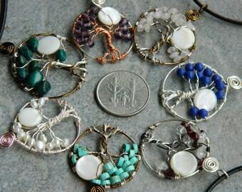 Tree of Life pendant. Adirondack Tree of Life necklace.