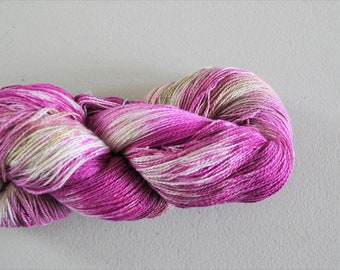Orchid.  Handpainted 8/2 Fine Cotton Yarn