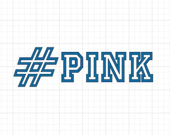 Hashtag Pink #Pink - Iron On Vinyl Decal Heat Transfer
