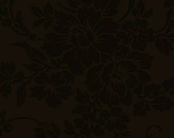 Mary's Blenders - Dark Brown Floral Damask (32033-15)