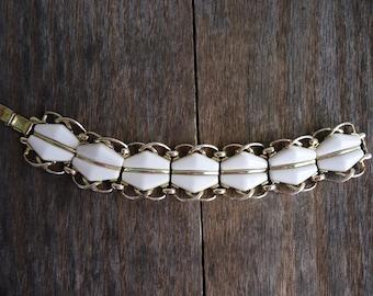 Retro White and Gold Bracelet