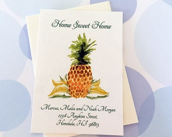 Change of Address Cards, Moving Cards, Pineapple Card, Set of 12