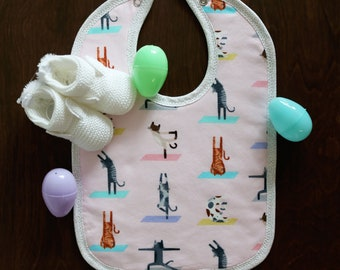 Yoga Cats Bib
