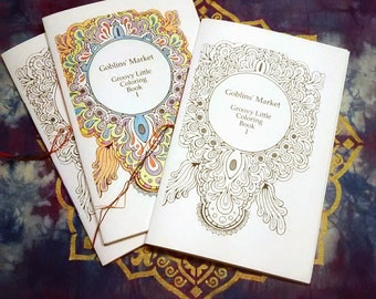 Groovy Little Coloring Book 1  Hand Bound Zen Coloring Book - Physical Copy