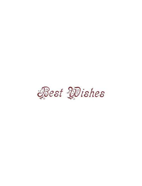 Words Best Wishes Text card making PNG ephemera transparent