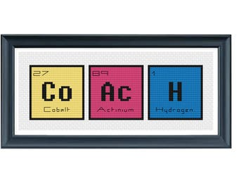 cross stitch pdf periodic table words coach cross stitch modern cross stitch pattern