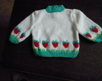 knitted handmade sweater for baby girl size 6 months