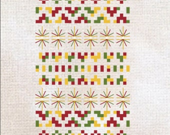 The Peace Tree Cross Stitch Sampler Chart