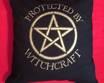 Witch's Protected By Witchcraft cushion